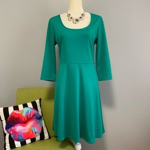 4/$25 Old Navy Fit & Flare Green Dress C1